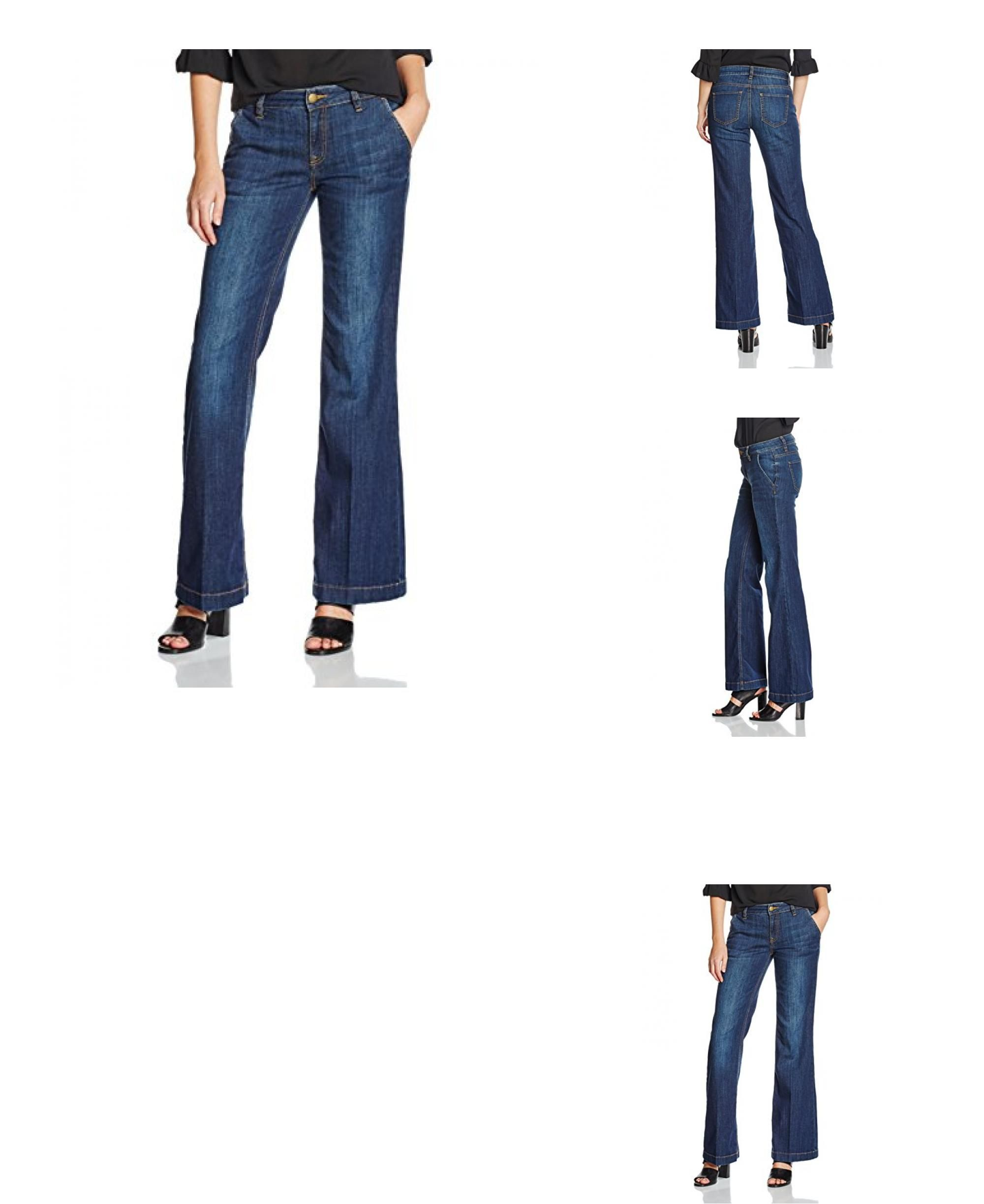 4057655858230    TOM  TAILOR  Damen  Jeanshose  Jeans  Alexa  Flared,  Blau   (Raw  Denim  1050),  W27 L32  (Herstellergröße  27) fe147e0da3