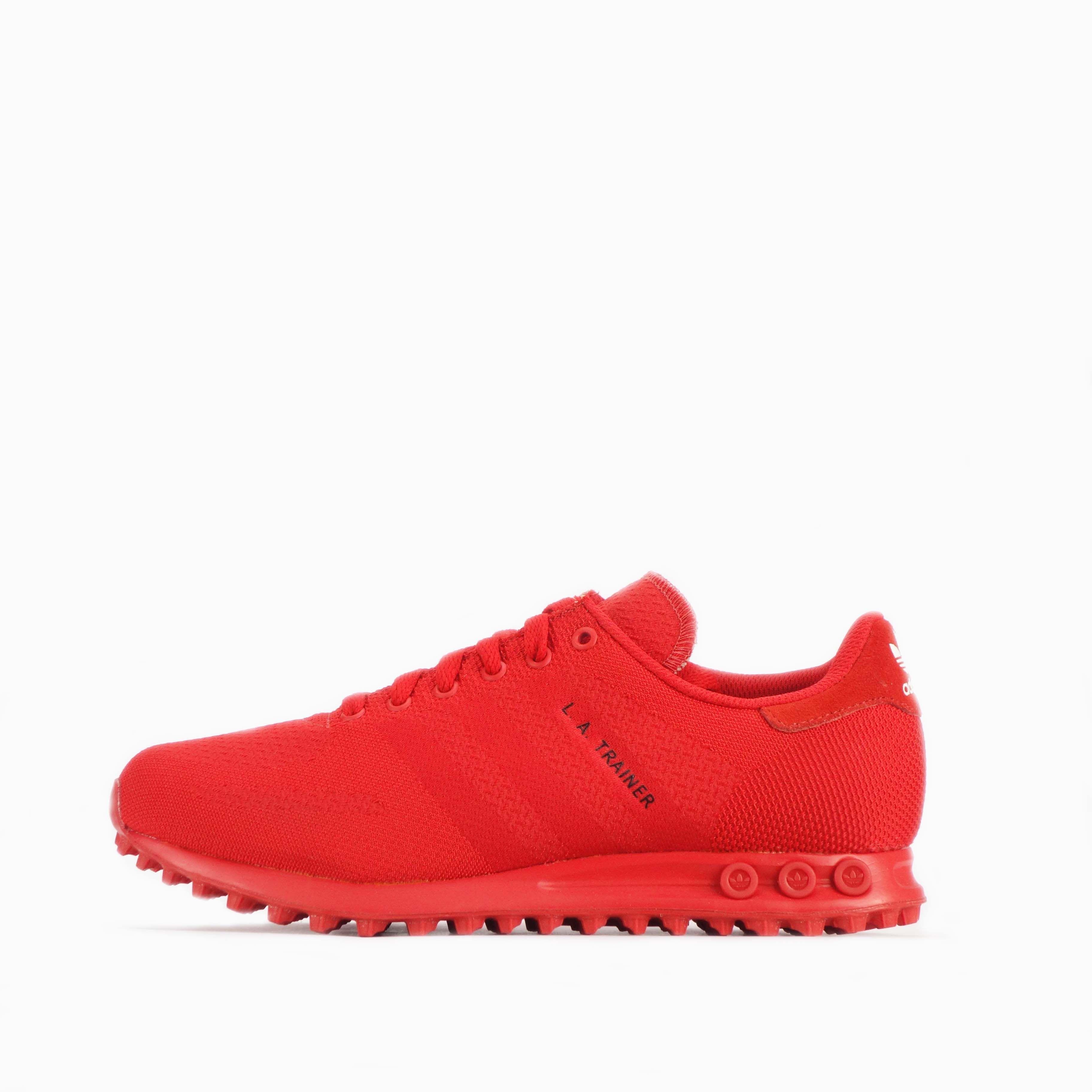 Details about adidas Originals LA Trainer Weave Triple Red ...
