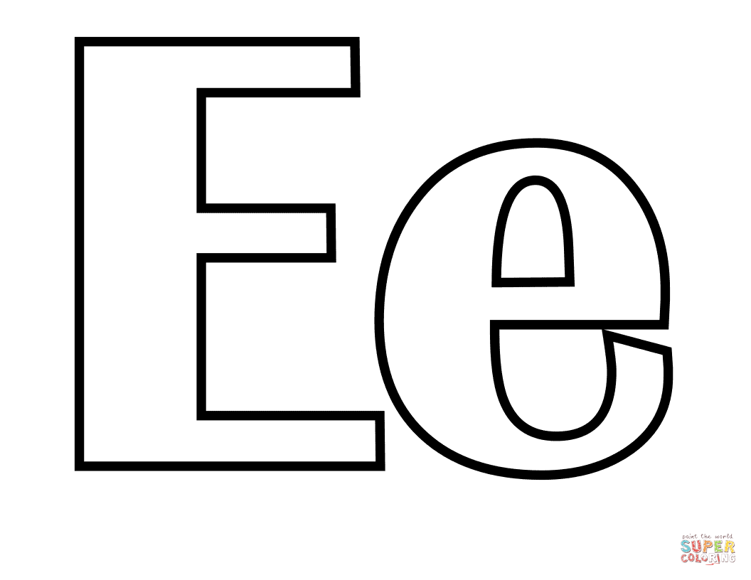 Classic Letter E Coloring Page Free Printable Coloring Pages Coloring Letters Lettering Alphabet Letter E
