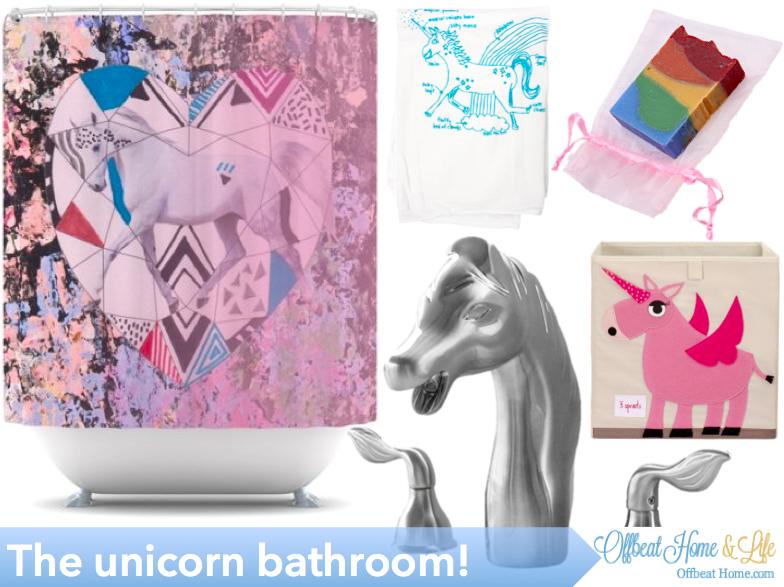 the mythical and magical unicorn bathroom bathrooms diy bathroom decor discount home decor. Black Bedroom Furniture Sets. Home Design Ideas