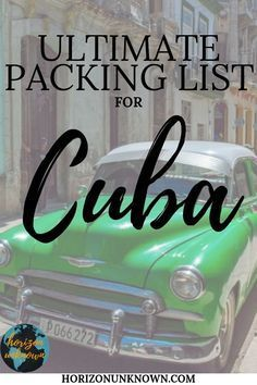 Here is the ultimate packing list for Cuba travel - from documents to clothing ...  #clothing... #ultimatepackinglist