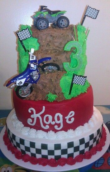 Dirt Bike 4 Wheeler Cake Cakes I Ve Made Birthday Cake
