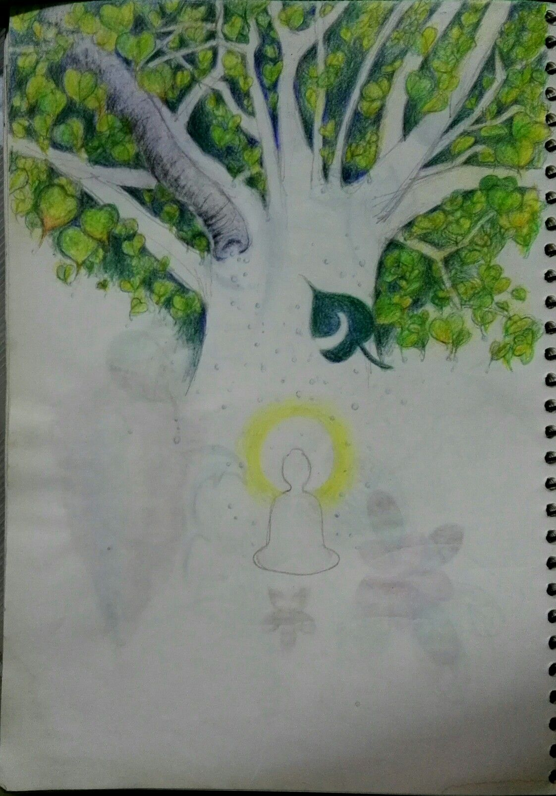 Within the Bodhi Tree, color pencil sketch.   Art Diaries ...