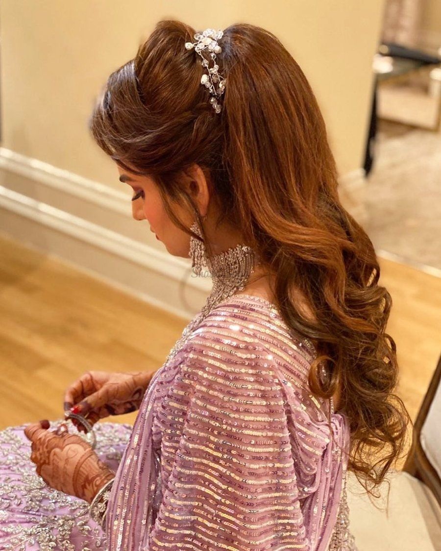 17 Voguish Ponytail Hairstyles For Brides To Try This Wedding Season! |  Messy ponytail hairstyles, Engagement hairstyles, Bride hairstyles