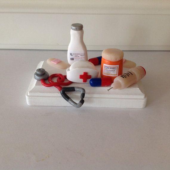 Polymer Clay Business Card Holder Pharmacist Doctor Nurse Charming Fun Medicine Pills Prescription Bottle Pharmacy