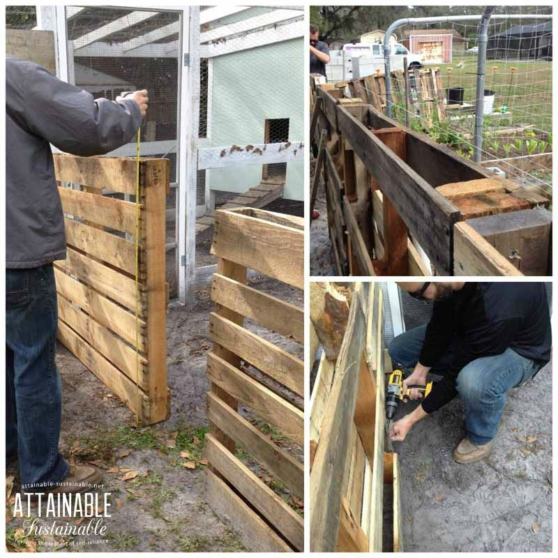 Wonderful Diy Recycled Chicken Coops: Recycle Pallets To Create A Free Chicken Run To Give Your