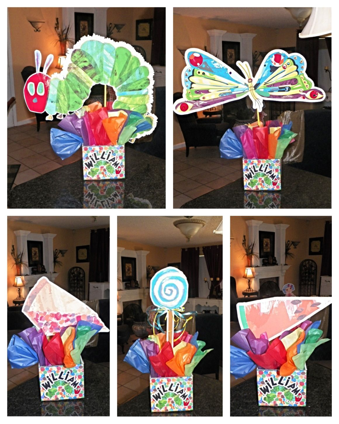 The Very Hungry Caterpillar Birthday Party Centerpieces