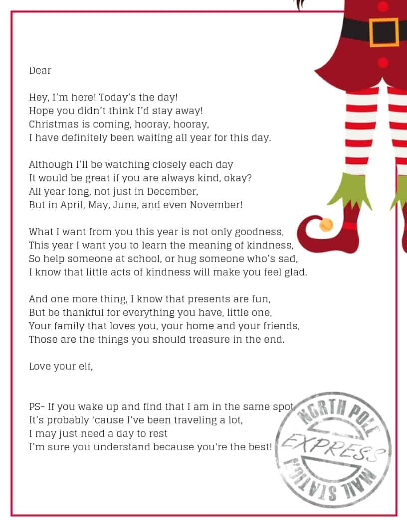 the perfect way to welcome your elf on the shelf arrival letter