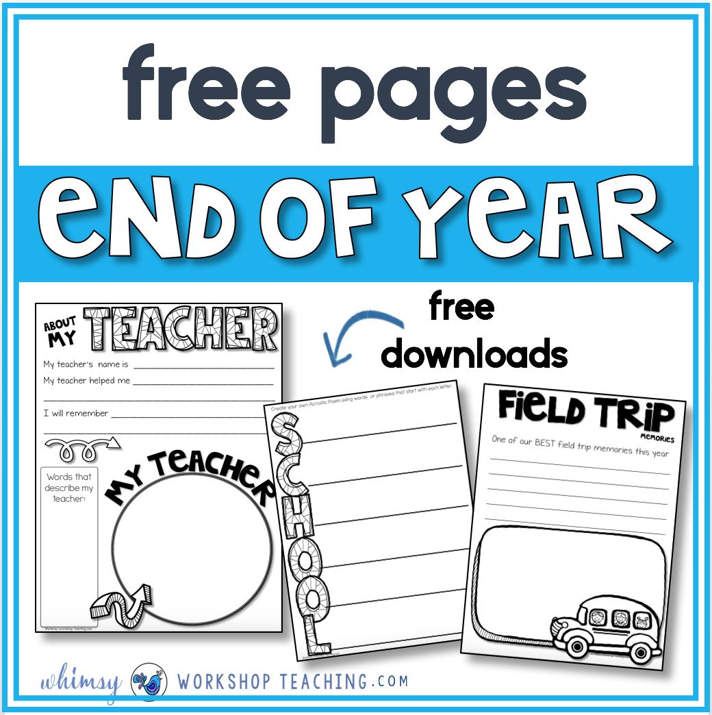 Simple End Of Year Ideas Whimsy Workshop Teaching Memory Book School Memory Book Kindergarten Preschool Memory Book [ 1044 x 1040 Pixel ]