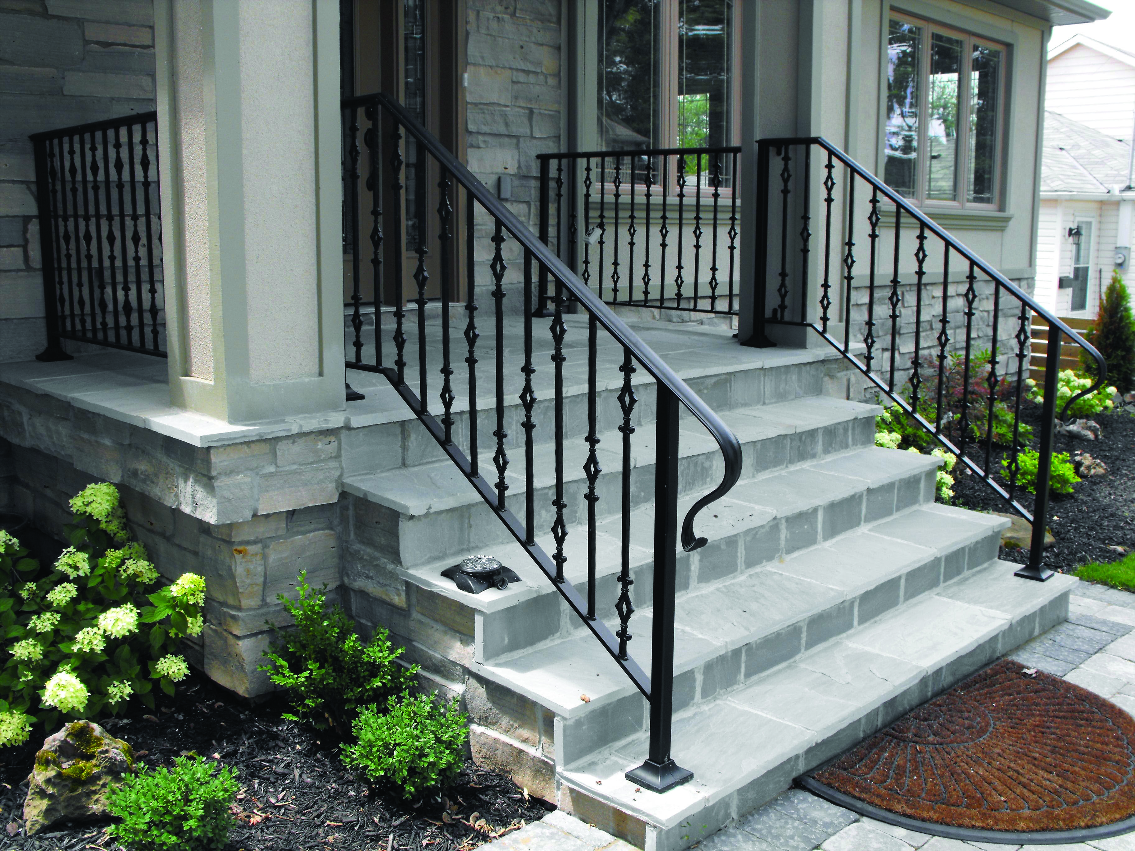 13 Outdoor Stair Railing Ideas That You Can Build Yourself