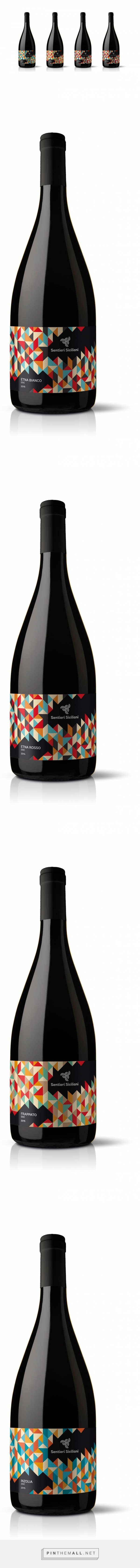 Sentieri Siciliani Wine - Packaging of the World - Creative Package Design Gallery - http://www.packagingoftheworld.com/2016/07/sentieri-siciliani-wine.html
