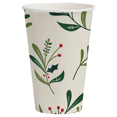 Spritz Christmas 12oz Hot/Cold Paper Cup, Conservatory, 12CT