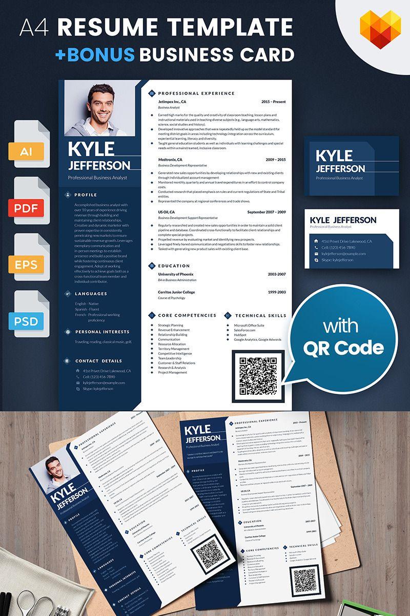 Business Analyst Resume #business https://www.motocms.com/cv-builder ...
