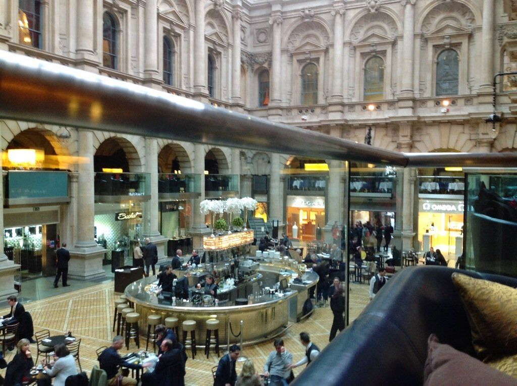 Now that's what I call a coffee shop! Royal Exchange, City