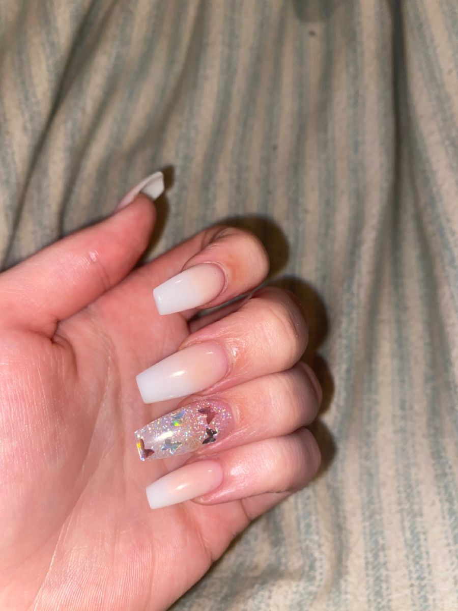 Butterfly Nails In 2020 Butterfly Nail Nails Pink