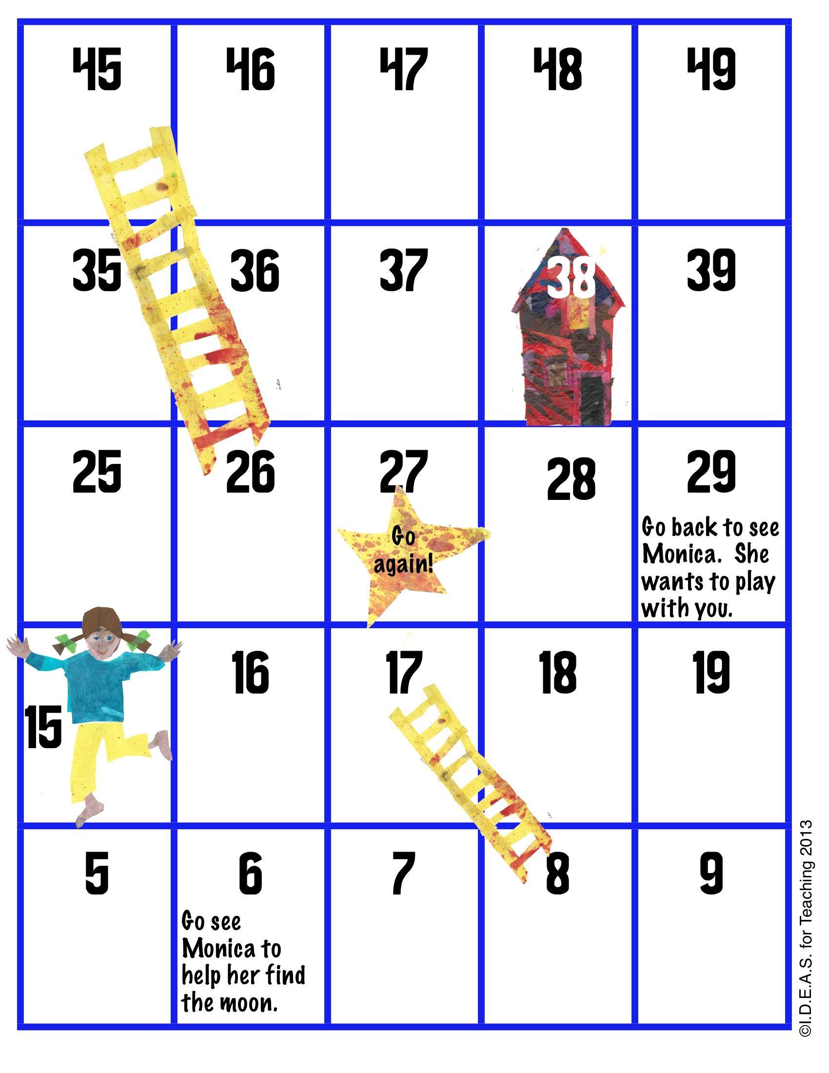 Http Www Teacherspayteachers Com Product Eric Carles Papa Please Get The Moon For Me Common Core Math Board Game 791578 Inspi Free Math Lessons Math Fun Math