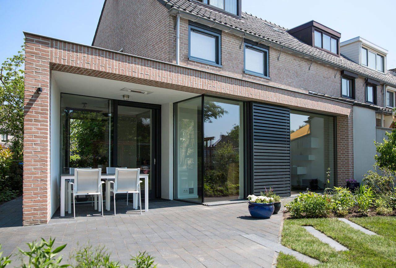 Moderne uitbouw jaren 80 rijwoning huizen moderne huizen for Moderne rijwoning