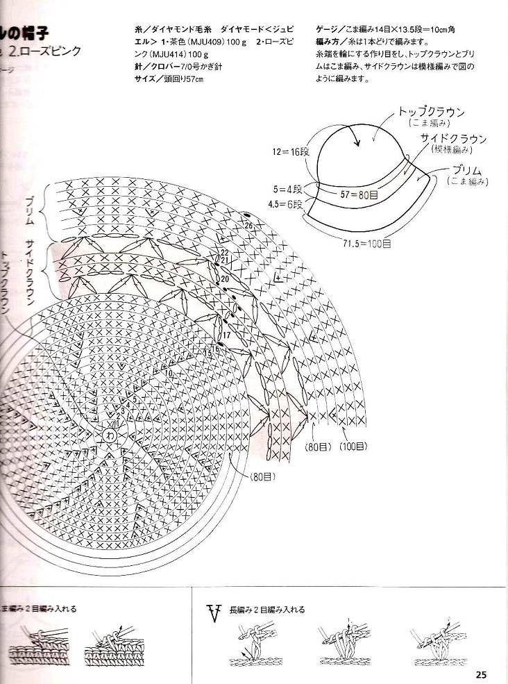 Patrones de crochet para sombreros de verano esquema gorro para el ...