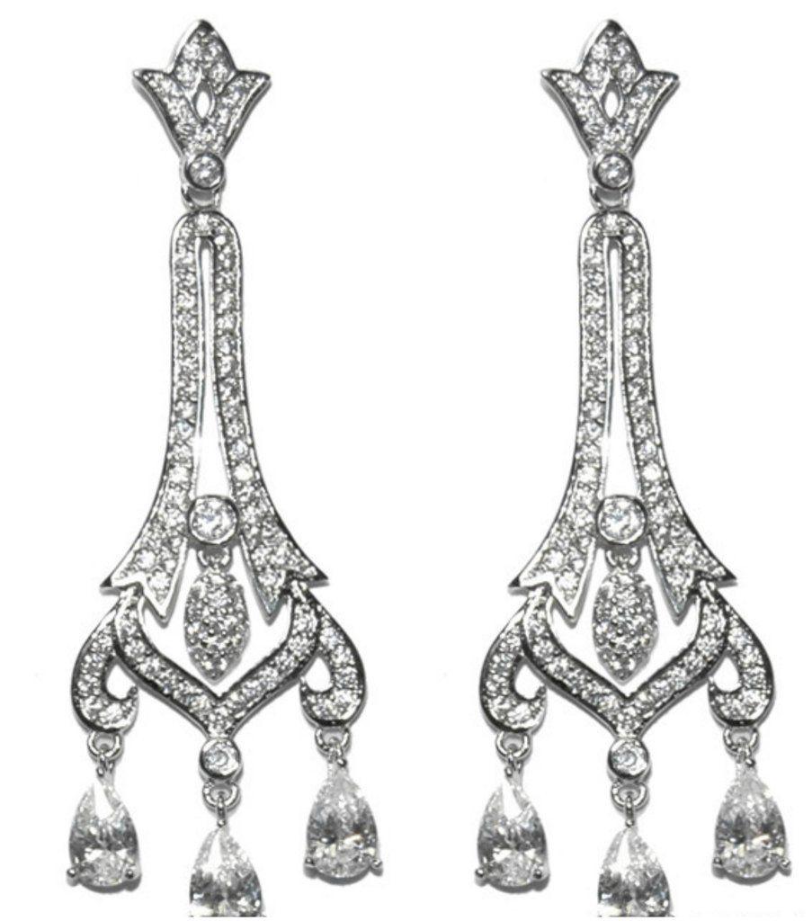 Lark cz art deco dangle chandelier earrings cubic zirconia lark cz art deco dangle chandelier earrings cubic zirconia arubaitofo Choice Image