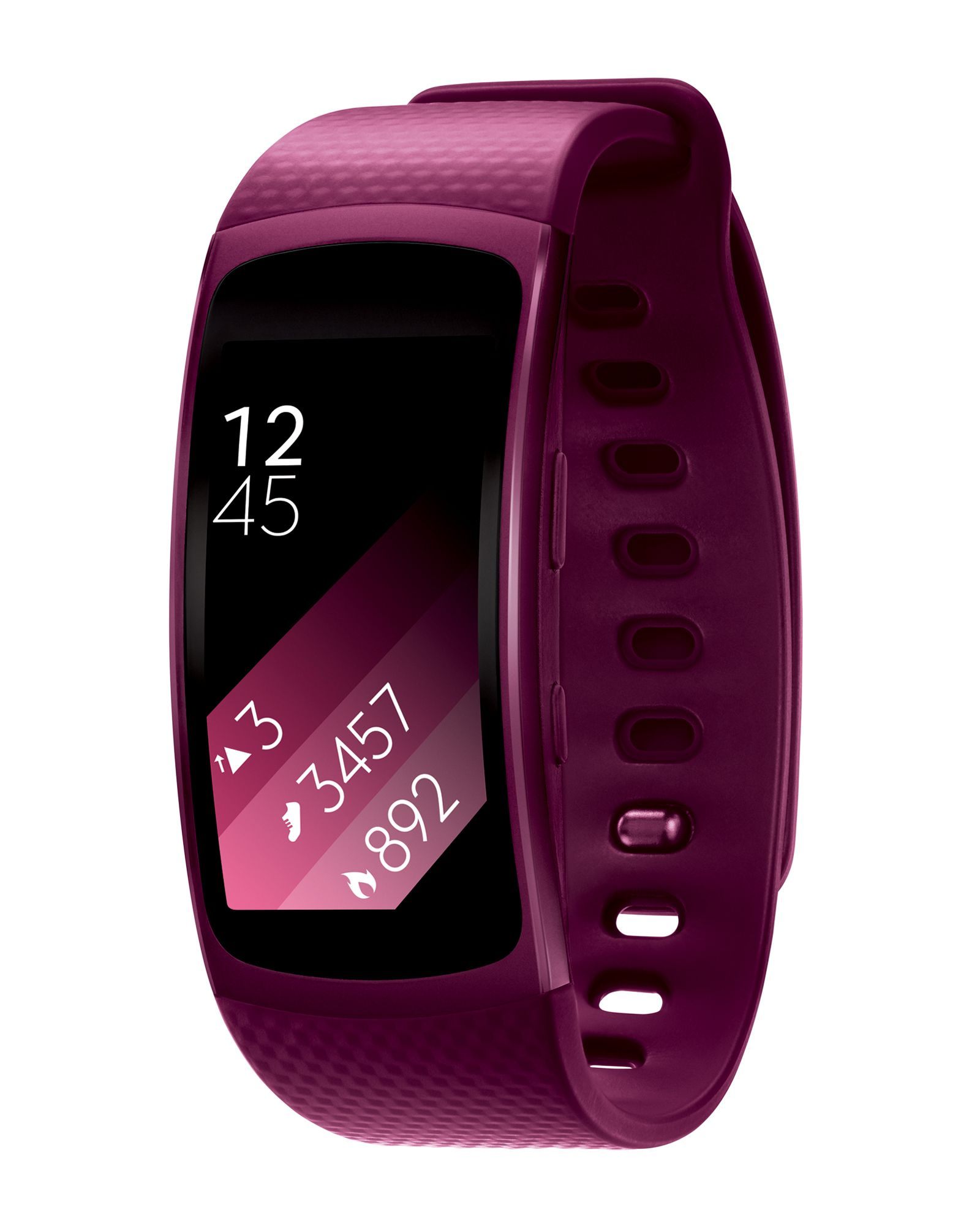 Pink Small Gear Fit 2 GPS Sports Band Fitness tracker