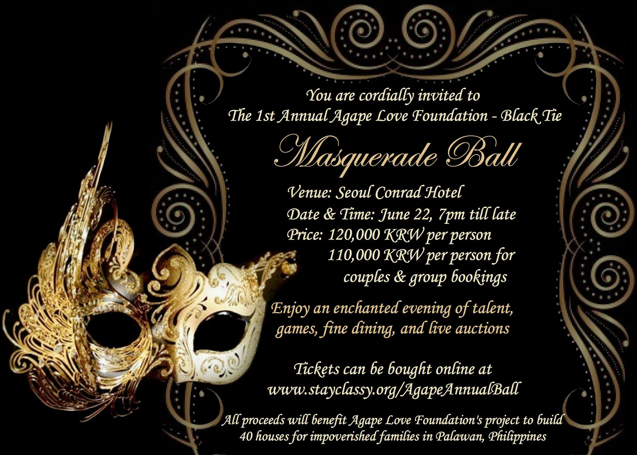 Glamour Invitation With Masquerade Birthday Invitations