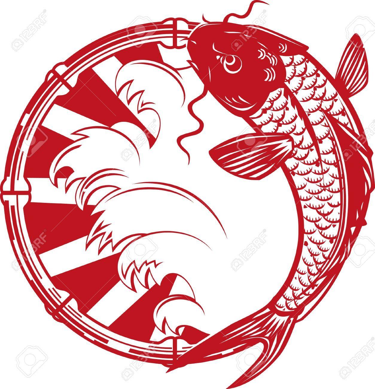 17443069-Koi-Emblem-Stock-Vector-koi-fish-carp.jpg (1254×1300 ...