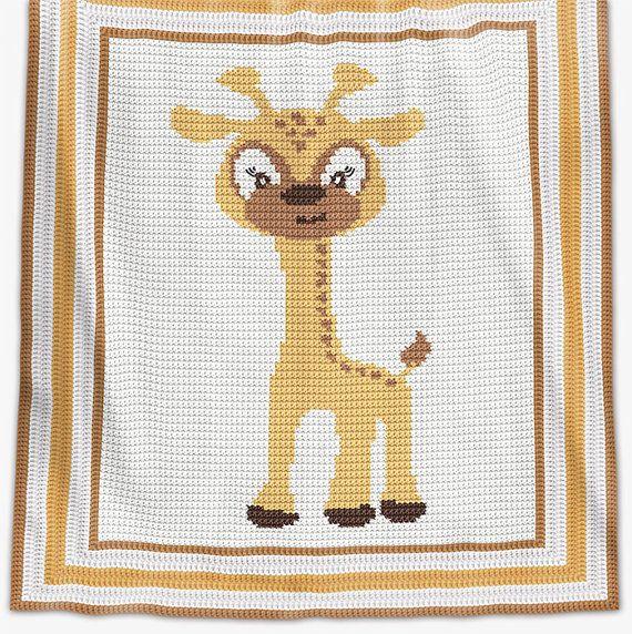 CROCHET Pattern - Baby Blanket Pattern - Baby Giraffe - Crochet ...