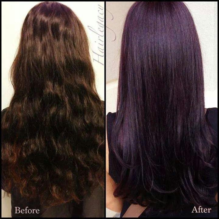 Bildergebnis Für Rich Dark Brown Hair With Purple Tint