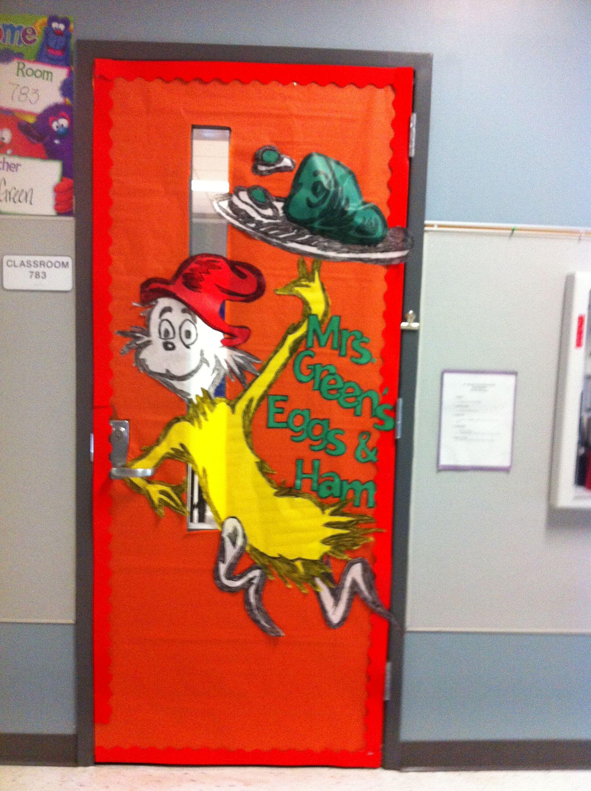 Green Eggs And Ham Door Dr Seuss Classroom Door Dr Seuss