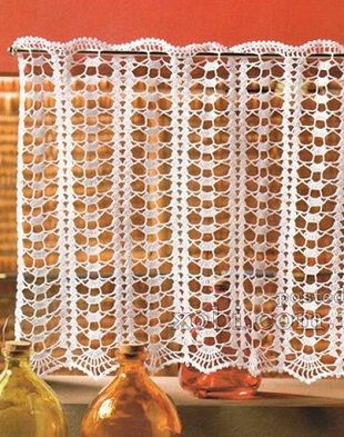 Openwork Crocheted Curtains Flores De Croche Tapetes Cortinas