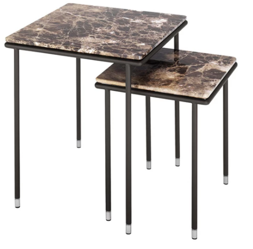 Square Coffee Side Table In 2020 Table Coffee Tubular Steel