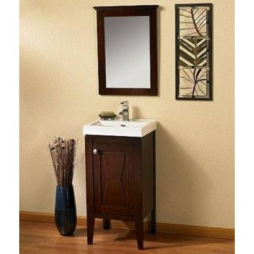 Fairmont Designs Tuxedo 104 V18 18 Inch Vanity Sink Mirror Combo