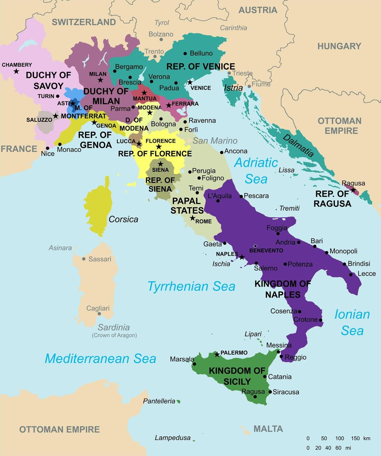 Maps on the Web: Italy in 1494 | WORLD MAPS | Pinterest | Italy