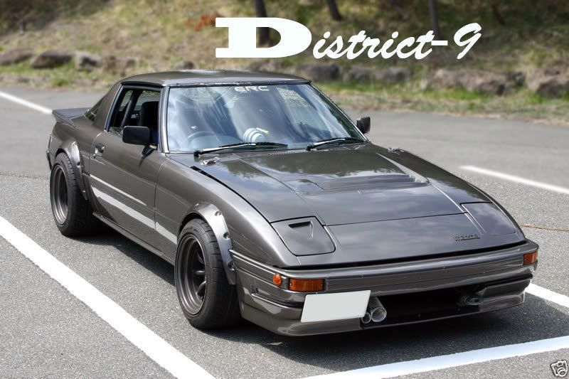 Details about BOLT ON FENDER WHEEL GUARD FLARES FOR MAZDA RX7 RX-7
