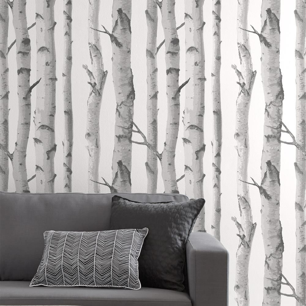 Best Birch Trees Wallpaper Double Roll Birch Tree Wallpaper 400 x 300