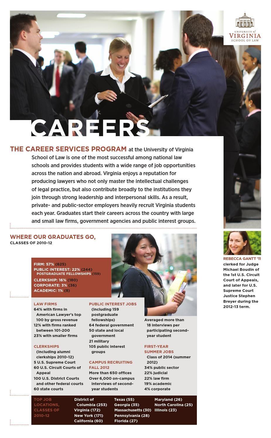 Careers Brochure, 2013 Career, University of virginia
