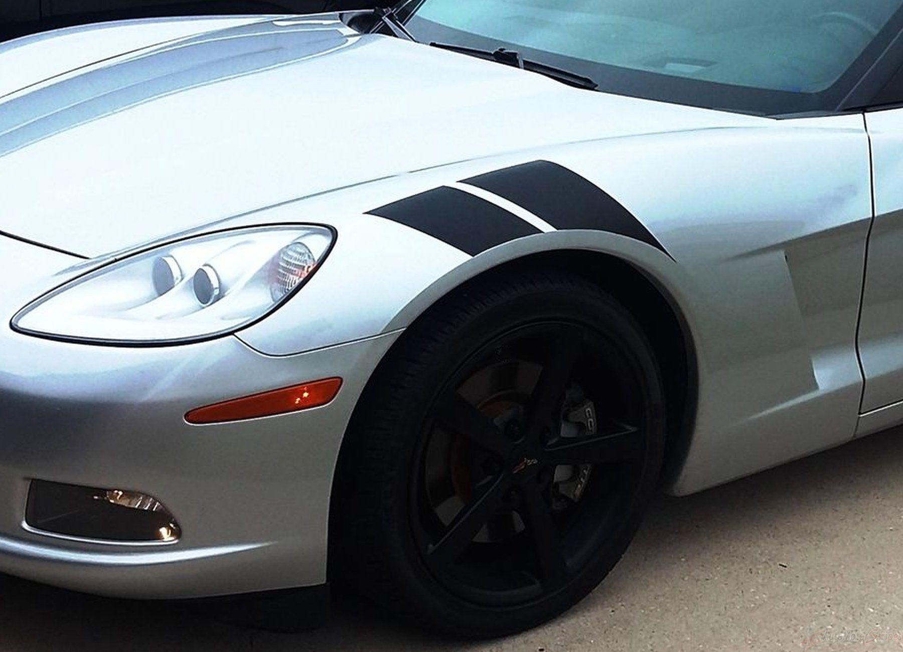Chevrolet Corvette ZR1 Custom Hood Vinyl Decal Racing Stripes