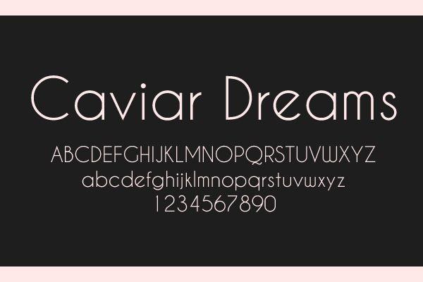 caviar dreams bold font free download