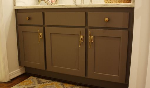 Bathroom Vanity With New Doors And Hardware. The Stain On The Cabinets Is  Graphite, · Wellborn CabinetsDesign KitchenIn ...