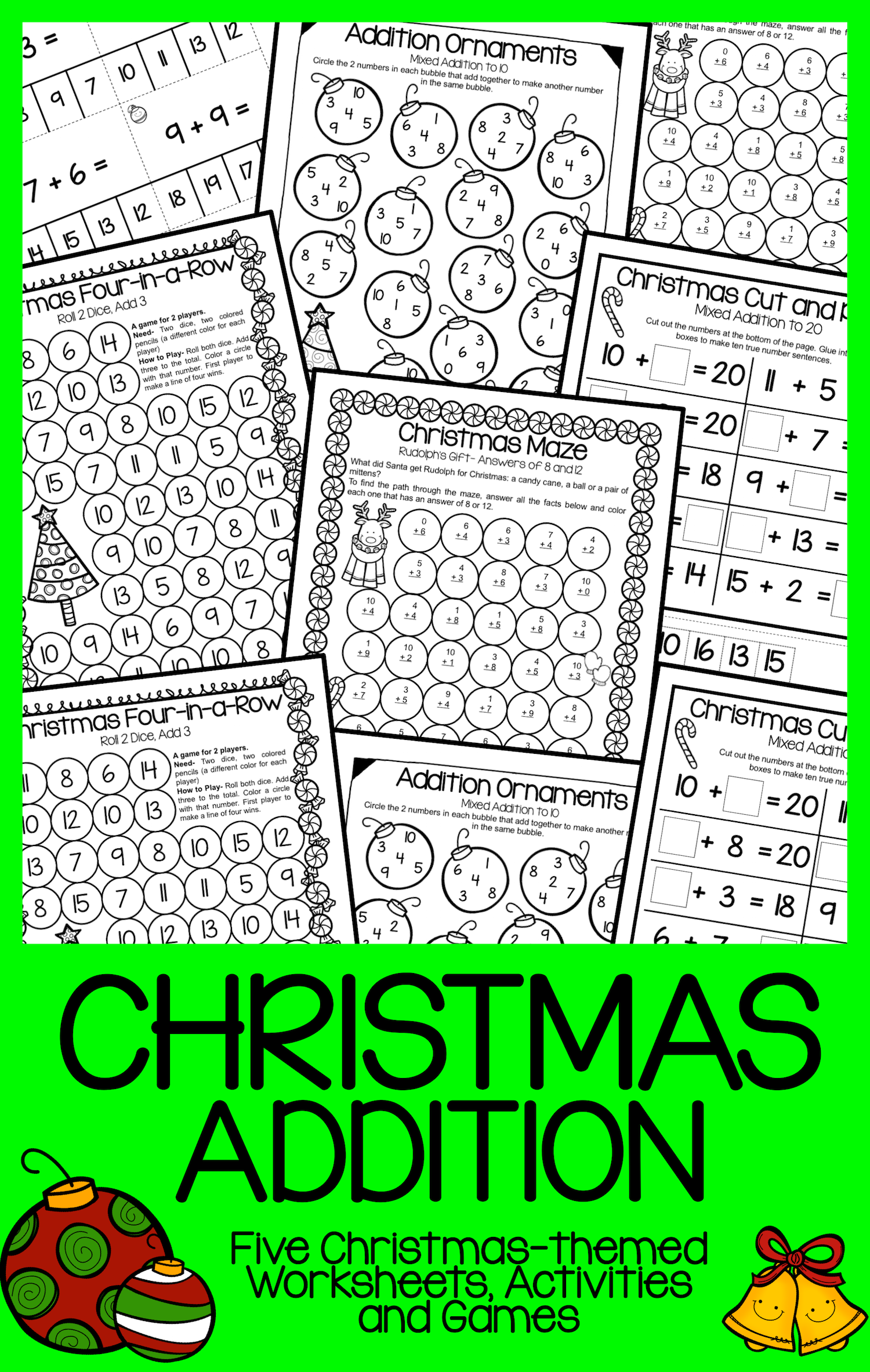 Christmas Addition Activities And Games Christmas
