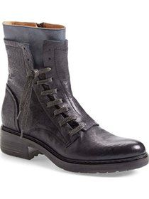 "women's alberto fermani 'freya' lace-up combat boot, 1 3/4"" heel"