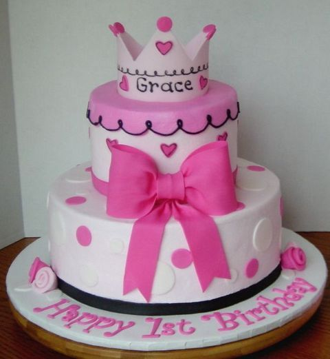 Tremendous 1St Birthday Princess Theme Cakes First Birthday Cakes For Girls Personalised Birthday Cards Veneteletsinfo