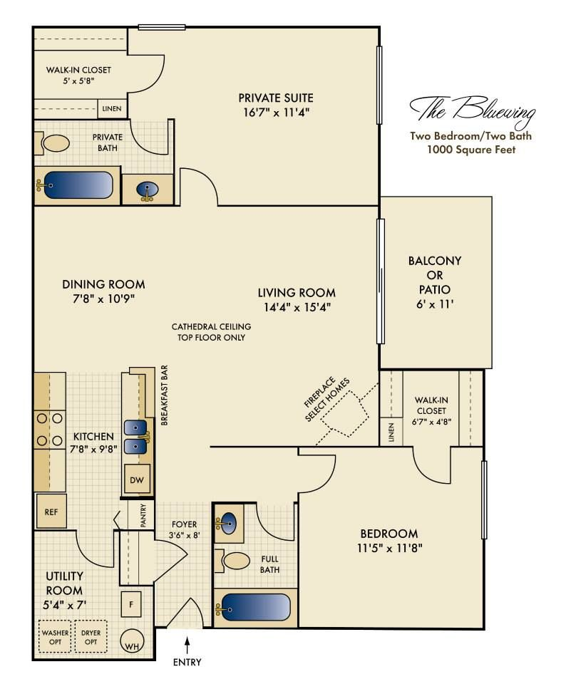 2 Bedroom Apartment Near Me Rent: One Of Our Lovely Floor Plans- 2 Bedroom (With Images
