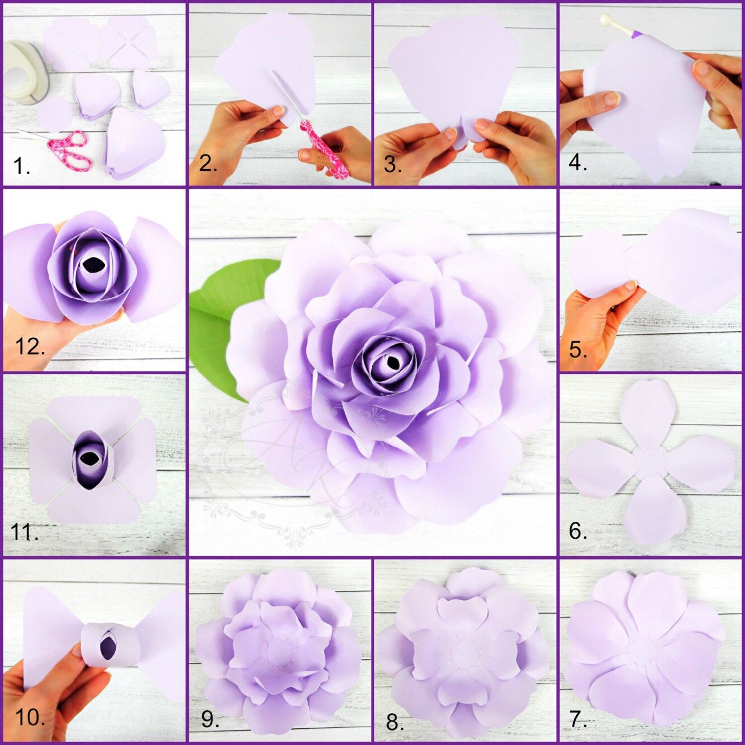 Eden Giant Rose Template Perfect For A Diy Bride Or Party Decor