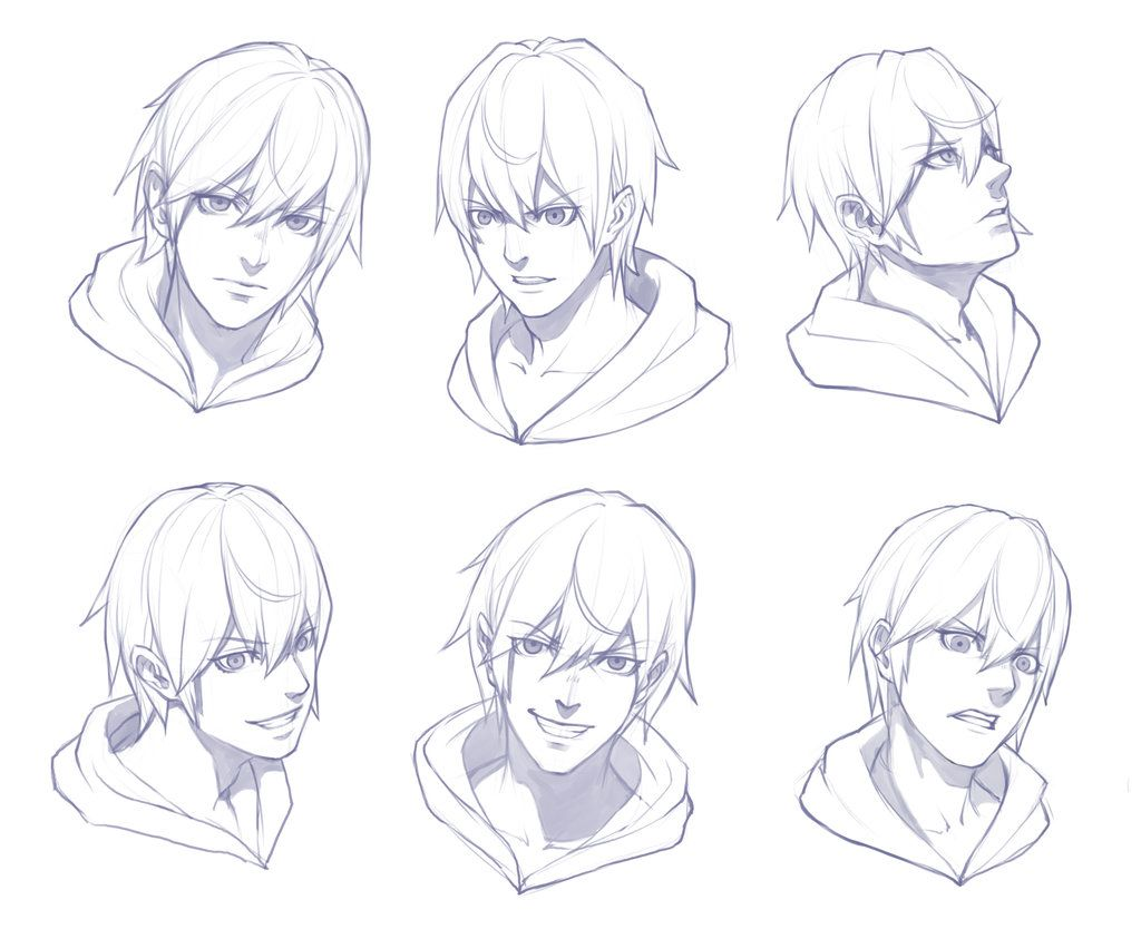 Character Design Drawing Tutorials : Boy face sketch practice by theoneg viantart on
