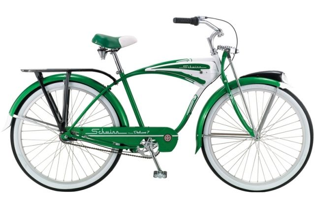 Where to rent bicycles in the Big Apple, including, perhaps, this (Granny Smith?) green Schwinn.