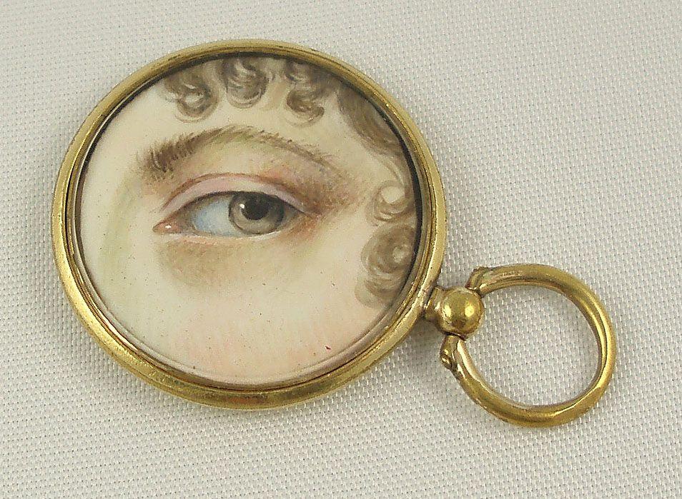 Circa 1849 - miniature eye portrait.
