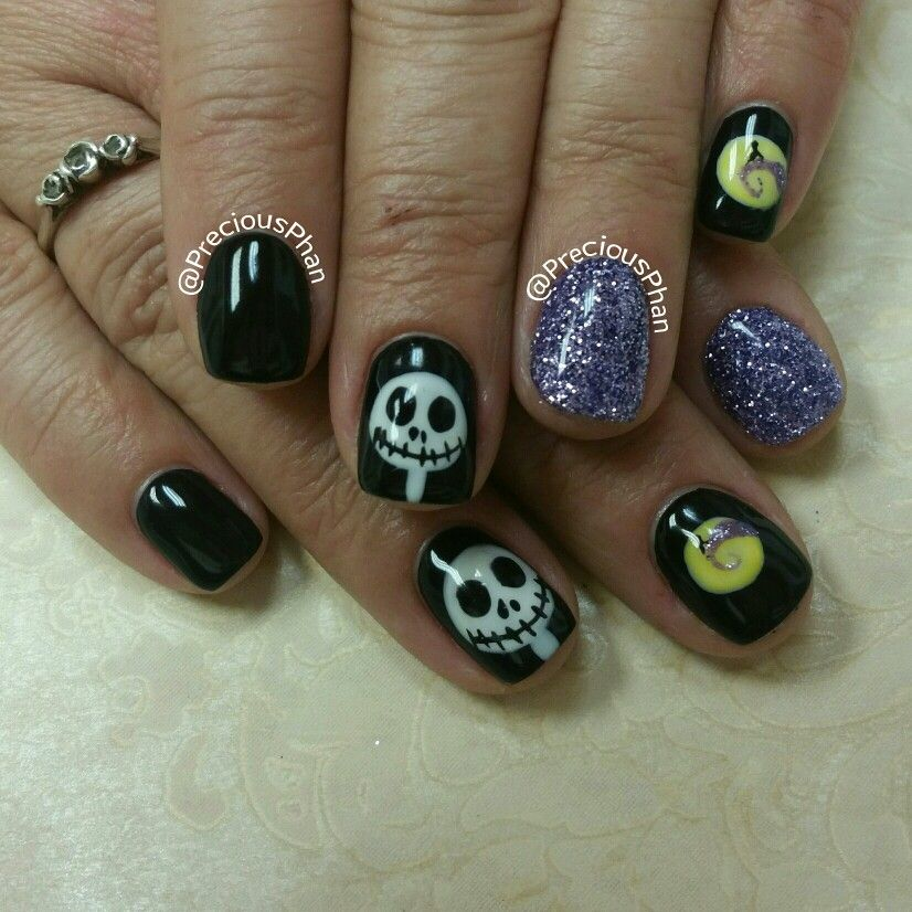 The Nightmare Before Christmas. Jack skellington nails. Halloween ...