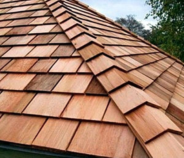 Cedar Shingle Roofing Bardeau Bois Maison Bois Amenagement Piscine Hors Terre