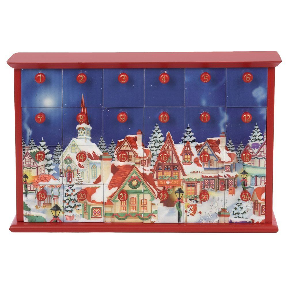 Kurt Adler Advent Calendar with 24-Drawers, 12.4-Inch >>> Tried it! Love it! Click the image. : Home Decor Snow Globes